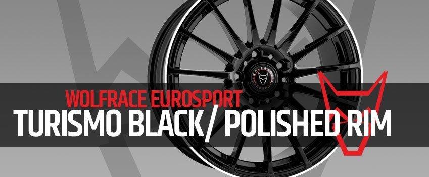 Wolfrace Turismo Gloss Black With Polished Rim
