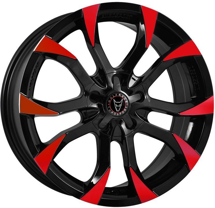 Wolfrace Eurosport Assassin Gloss Black / Red Tips