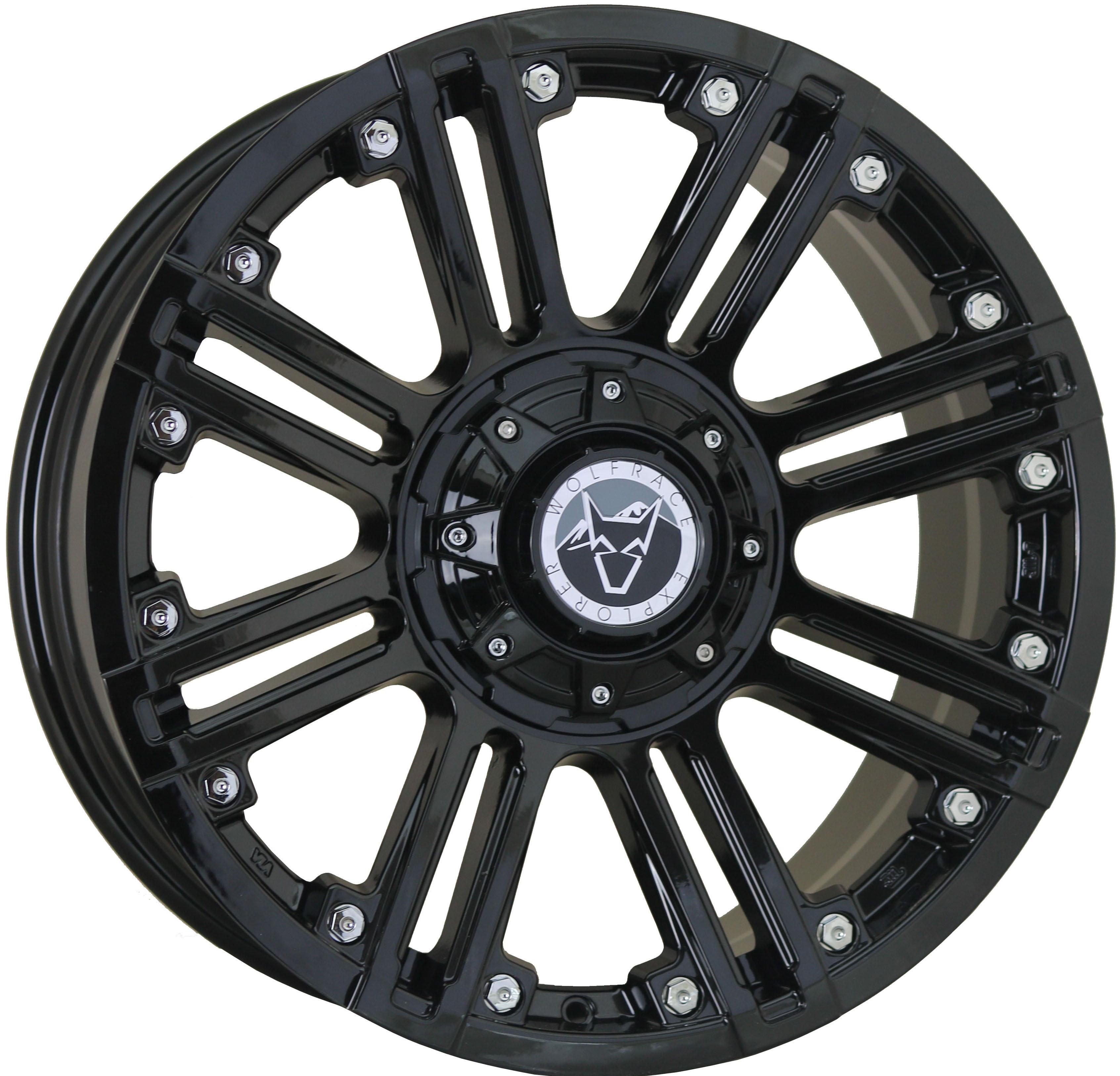 Wolfrace Explorer - Amazon (Gloss Black / Chrome rivets)