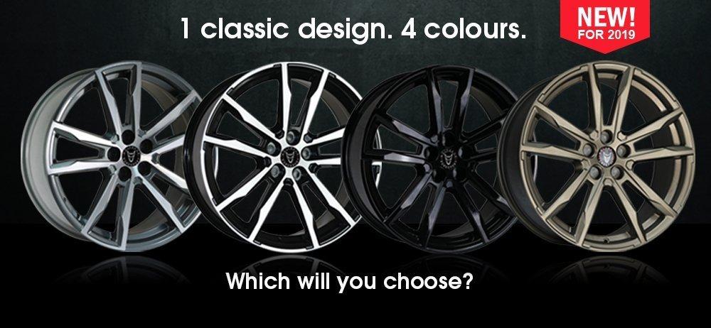 1 Classic Design. 4 Colours. This is The Wolfrace Eurosport Dortmund Range.