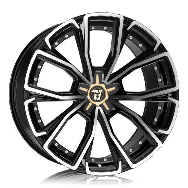 Alloy Wheels Wolfrace 71 Luxury Matrix Gloss Raven Black Polished