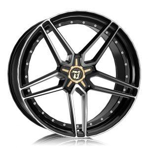 Alloy Wheels Wolfrace 71 Luxury Voodoo Gloss Talon Black Polished